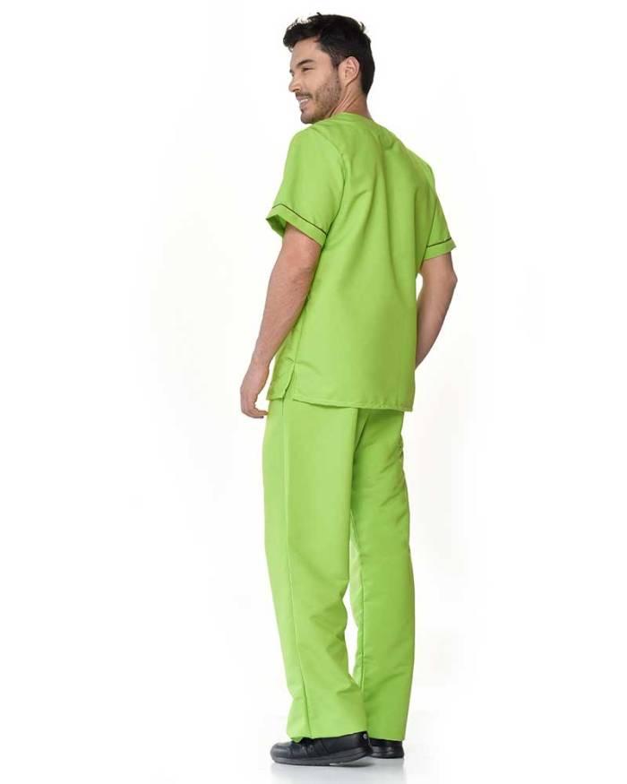 uniforme verde limon antifluido de hombre s14-4