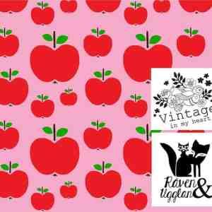Vintage in my heart appeltjes roze