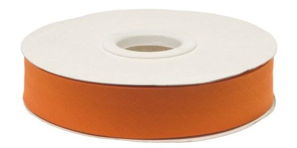 Gevouwen biaisband 20mm - Oranje oranje