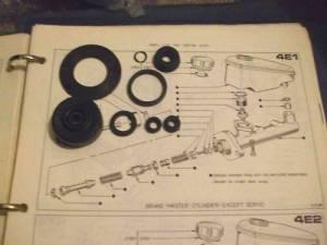 BRAKE MASTER CYLINDER REPAIR SEALS KIT (Ford Capri Mk1 & Mk2 Parts) (Tandem With Servo)