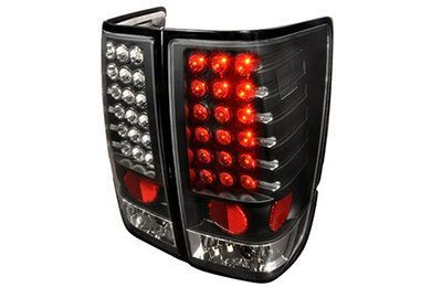 Calaveras LED Negras Altezza Para Nissan Titan