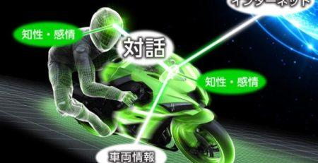 Kawasaki está trabajando en IA para motocicletas parlantes