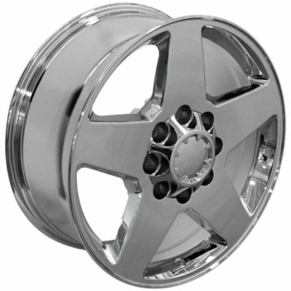 Juego De 4 Rines Cromados PVD 20x8.5 Para Chevrolet Silverado
