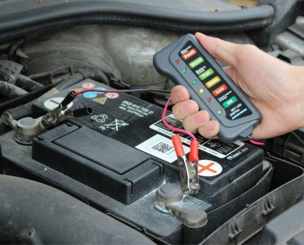 Probador Digital LED Para Bateria De Auto Moto 12V