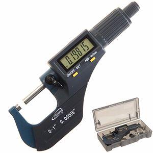 Micrómetro Electrónico Digital Exterior Punta De Carburo 0.001mm - 25mm