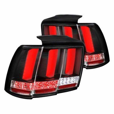 Calaveras LED Secuenciales Negras Para Ford Mustang