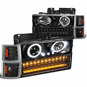Faros De Lupa y LED Para Chevrolet Suburban Silverado 1994-1998