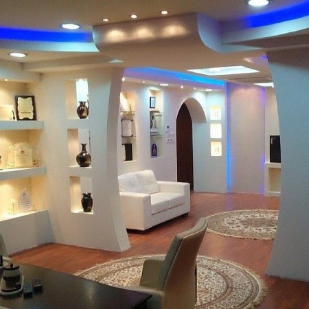 Asma tavanların en son şekilleri ve tasarımları (4)