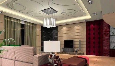 Alçı levha şekilleri, apartmanlar ve villalar 2017 (3)