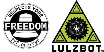 "Lulzbot AO-100 certificada como ""Respects your Freedom"""