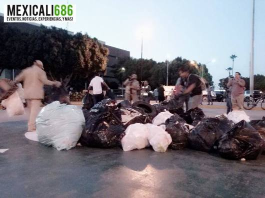 protesta mexicali basura