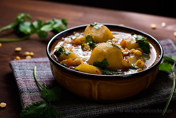 #Potato and Yellow Split Pea #Curry Recipe (#Vegan with Meat Option)   #yellowsplitpeas #indianfood