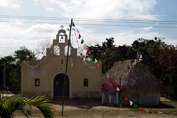 Riviera Maya Village Church | #travel #Mexico #MayanVillage