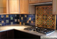 MexicanTiles.com - Kitchen Backsplash with Decorative ...