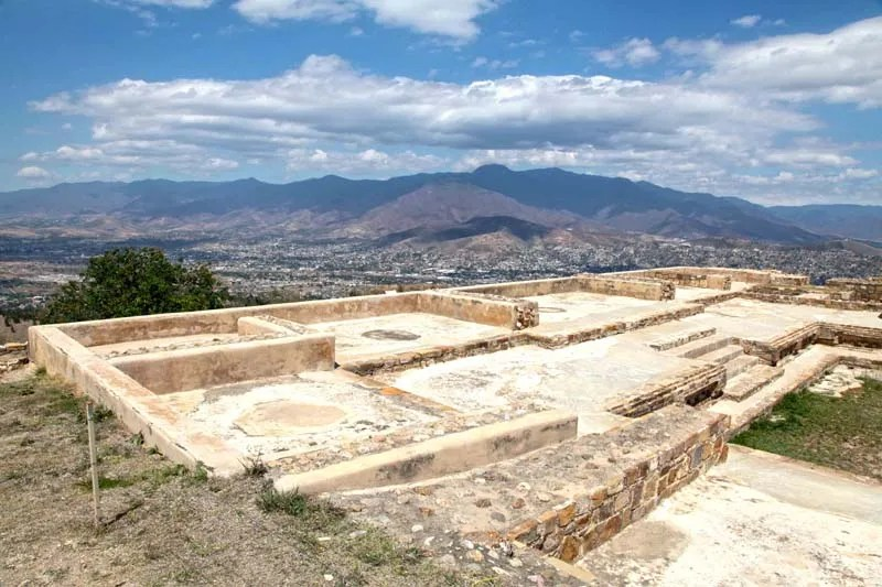 Atzompa , Zapotec Ruins overlooks Monte Alban and Oaxaca
