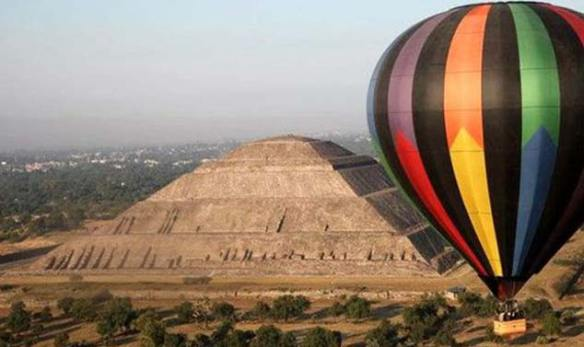 Image result for mexico hot air balloons over pyramids