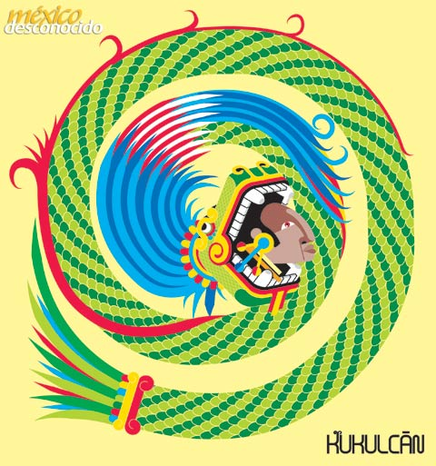 Kukulcán, dios maya de la sabiduría / Ilustración: Oldemar