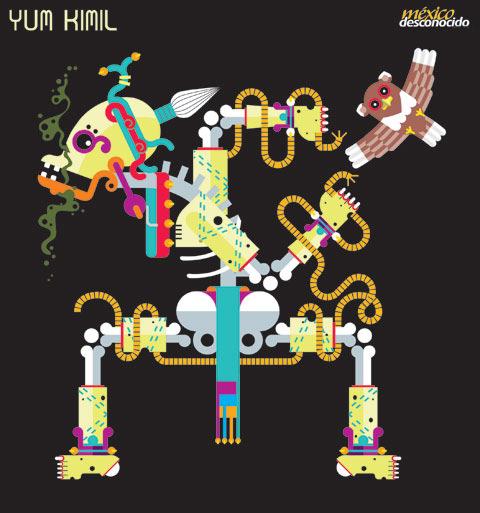 Yum kimil, dios maya de la muerte / Ilustración: Oldemar