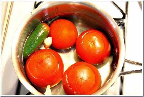 entomatadas, cocina los ingredientes