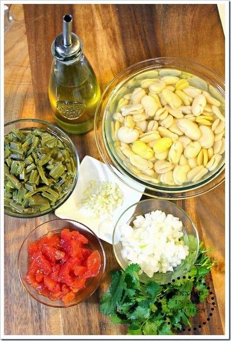 deliciosa sopa de Habas y Nopales, fácil de preparar