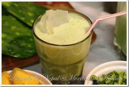 licuado de nopales, disfruta de esta deliciosa bebida