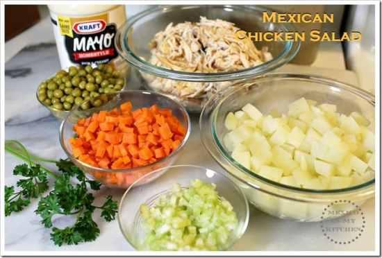 Ensalada de Pollo ingredientes para esta receta