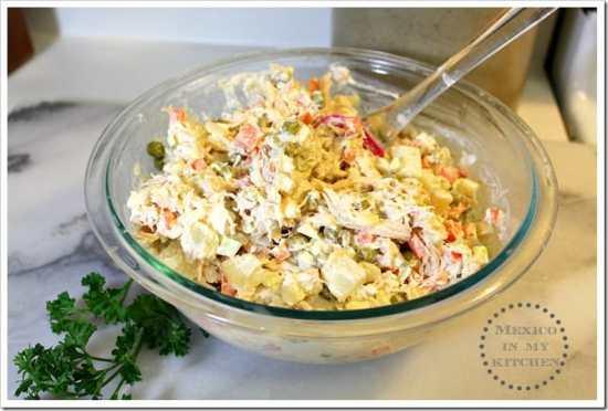 Ensalada de Pollo disfruta de esta riquísima receta