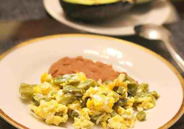 Receta Nopales con huevos