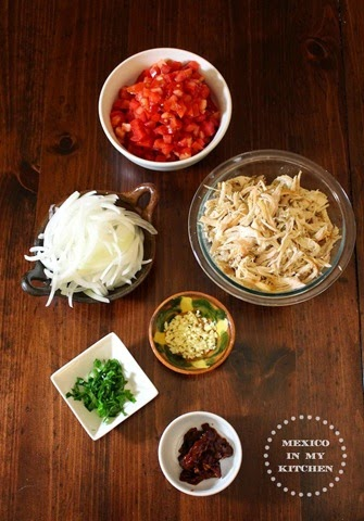 Ingredientes, Tinga de Pollo