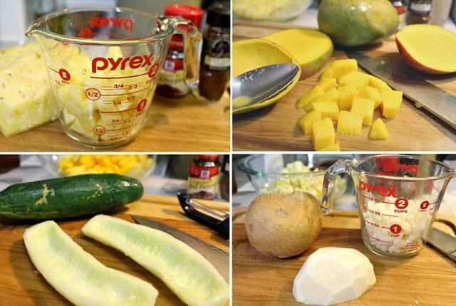 gazpacho de frutas. fácil de preparar