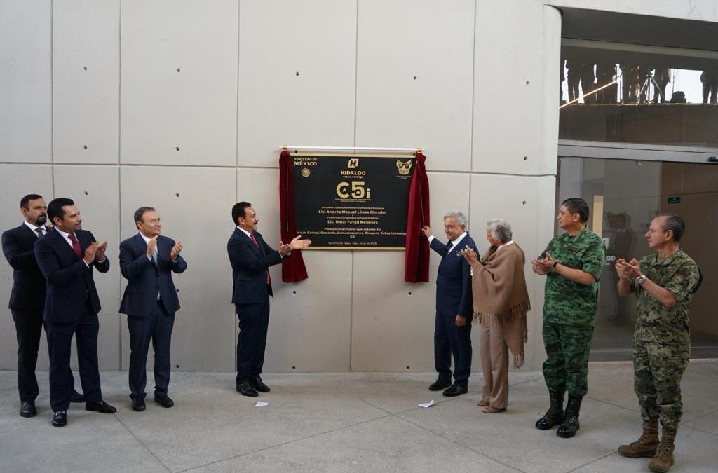 Inaugura AMLO en Hidalgo el C5, el más sofisticado de AL