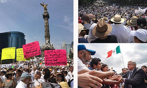 Marchan contra políticas de AMLO