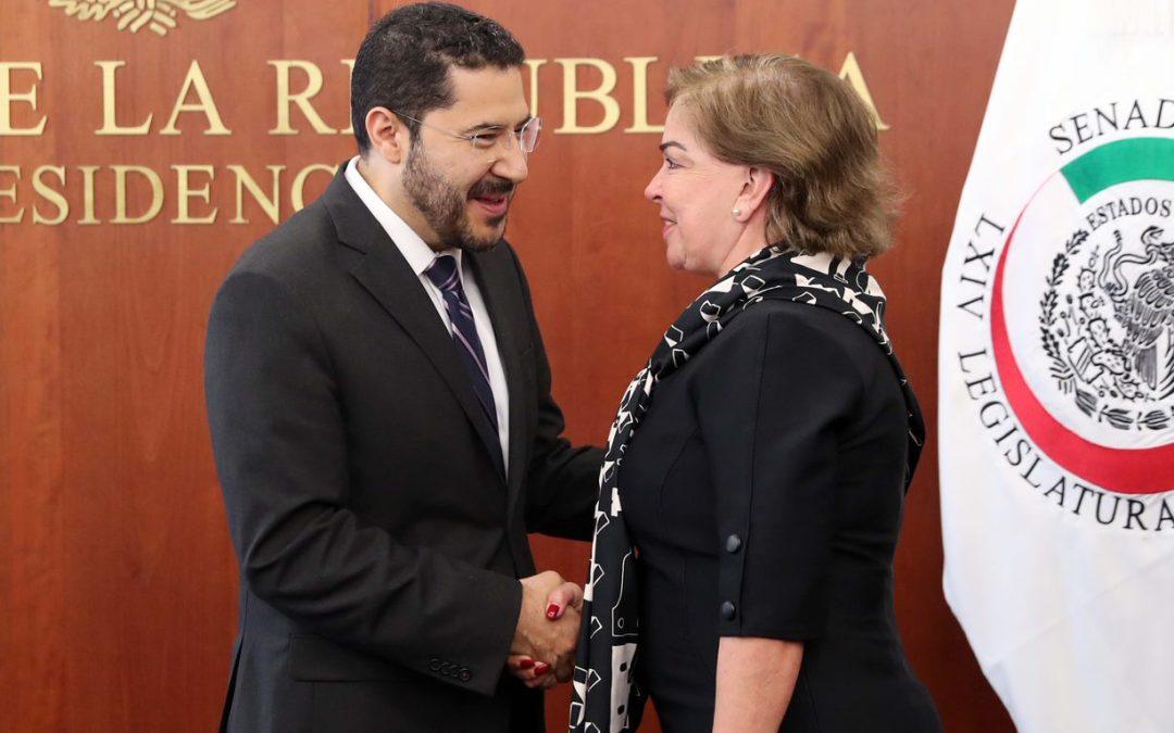 Rinde protesta senadora que sustituye a Ruiz Massieu
