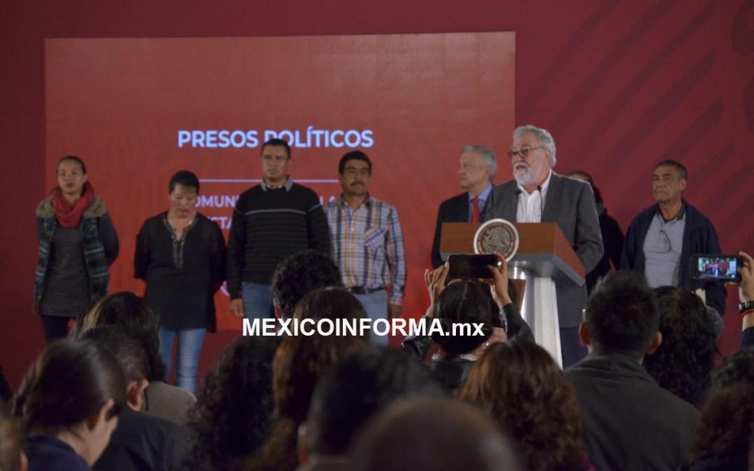 Nunca más presos políticos: AMLO