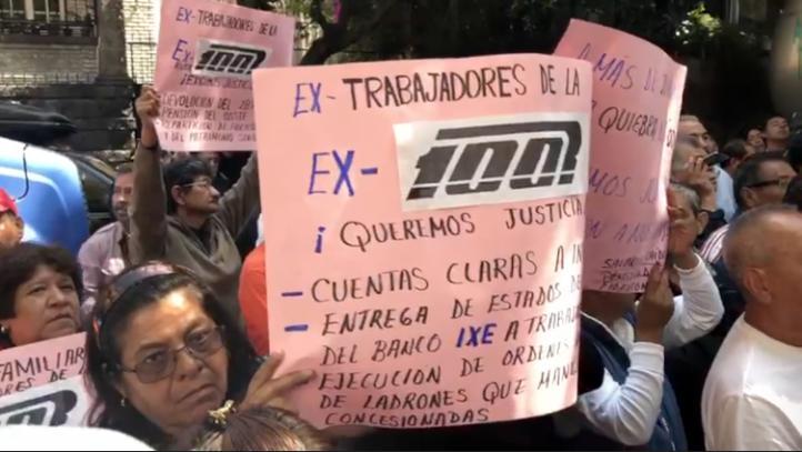 Extrabajadores de Ruta 100 exigen liquidación