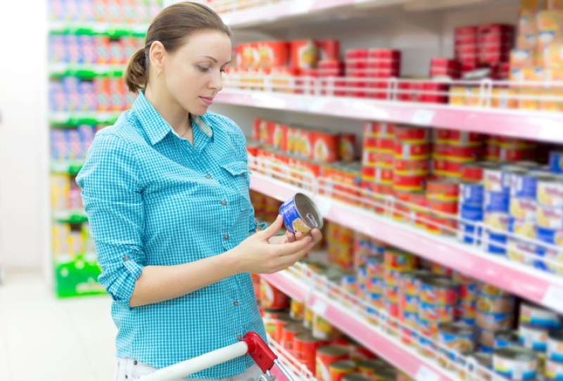 Para fines de enero,  etiquetado en alimentos altos en calorías