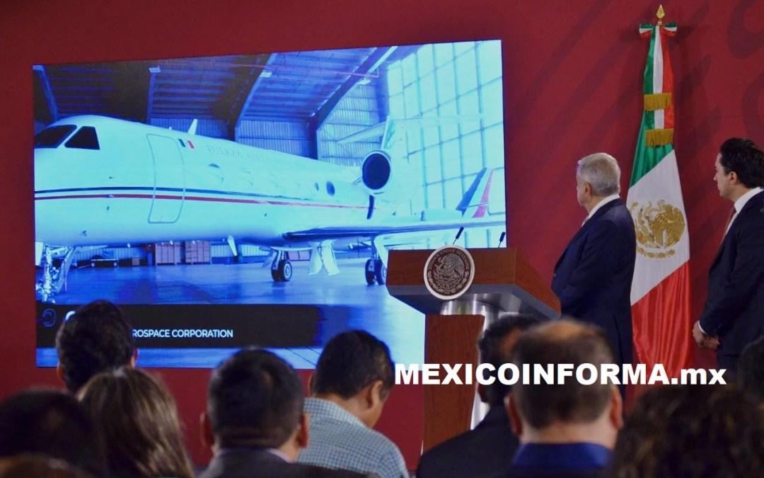 Regresan a México avión presidencial; no se  ha vendido
