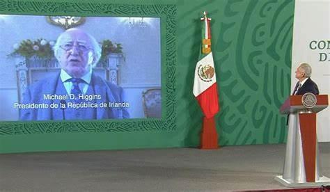 Destaca presidente de Irlanda liderazgo de México y felicita por Independencia