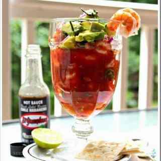 Shrimp Cocktail with Habanero Sauce / Coctel de Camarones