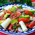 Hearts of palm salad, easy and elegant.