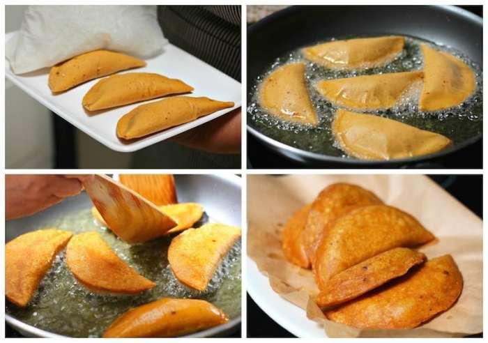 Tuna empanadas using corn masa