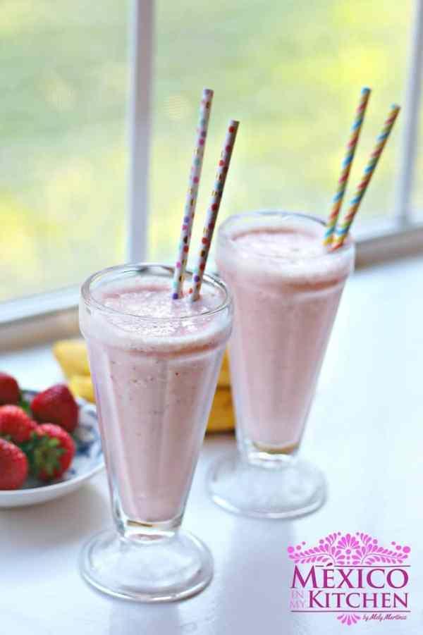 Strawberry Banana Smoothie recipe.