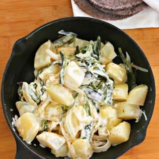 Creamy Poblano Potatoes