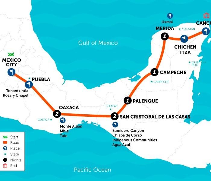 SAT Mexico Tours southern adventure
