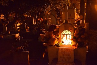 A visit to one of the cemeteries at night