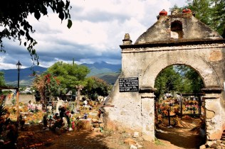 Visit a rural cemetery nearby to Oaxaca City