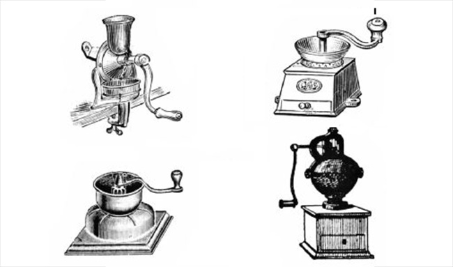 A história do moedor de café