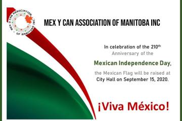 Mexican Flag will be raised at City Hall on September 15, 2020