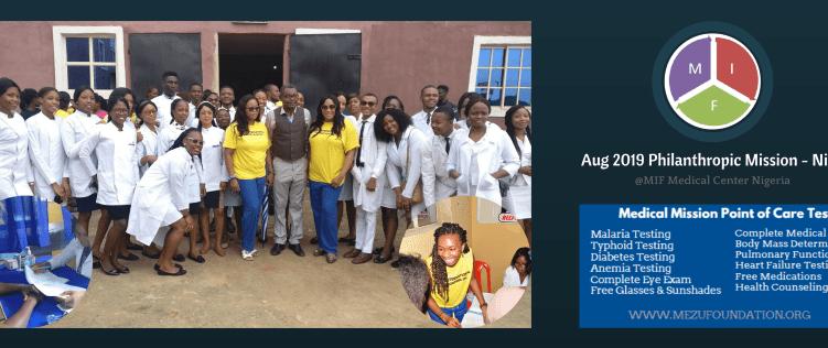MIF Philanthropic Mission Nigeria – August 2019