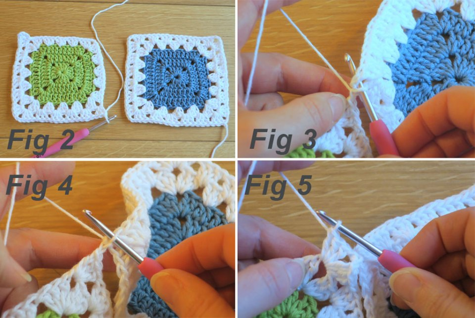 granny stitch join step by step instructions